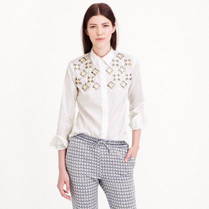 Collection jeweled geo shirt