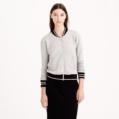 Varsity sweatshirt jacket