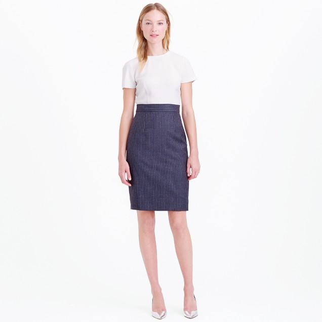 Petite pinstripe dress