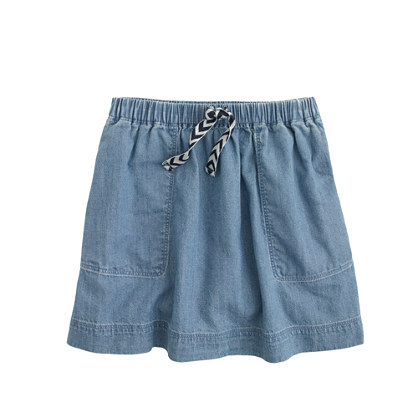 Girls' chambray skirt