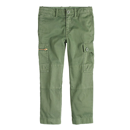 Boys' slim sun-faded cargo pant