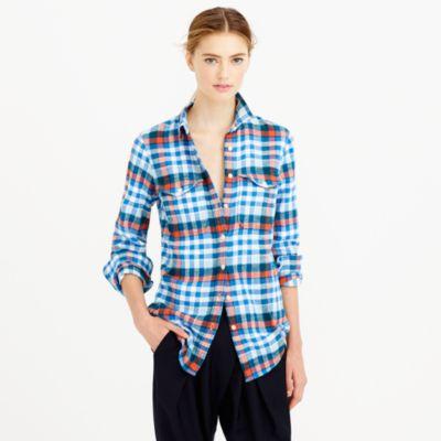 Boyfriend flannel shirt: Target.
