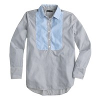 Bib popover shirt in stripe