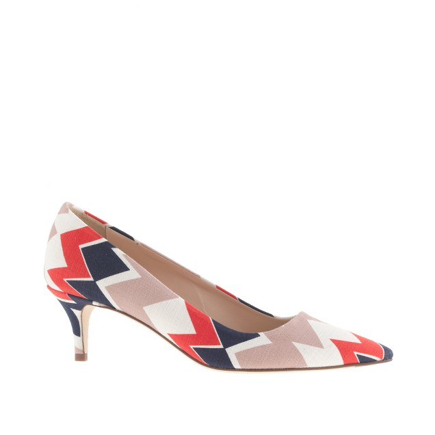 Dulci printed kitten heels