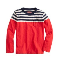 Boys' ringer T-shirt in colorblock stripe