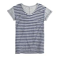 Vintage cotton colorblock stripe T-shirt