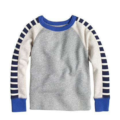 Boys' racer-stripe sweatshirt