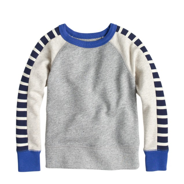 Boys' racer-stripe sweatshirt