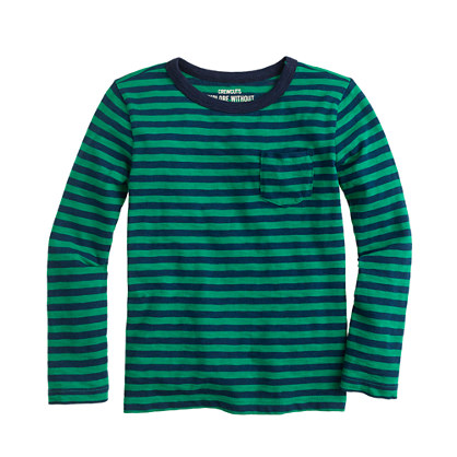 Boys' T-shirt in green stripe