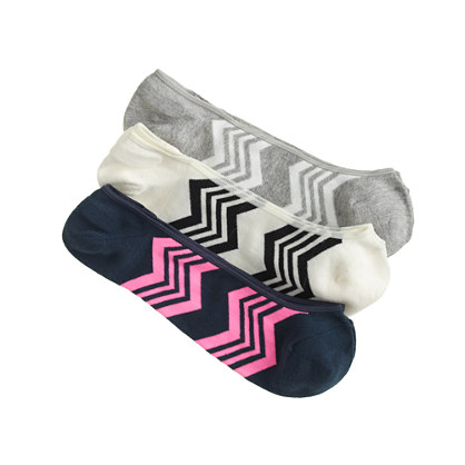 Zigzag no-show socks three-pack