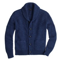 Guernsey cotton cardigan sweater
