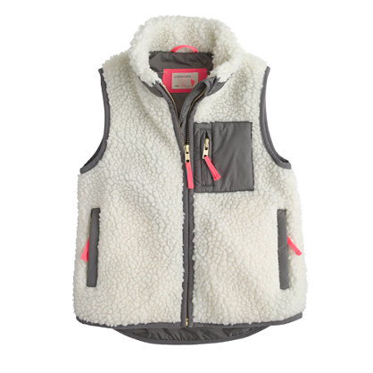 Girls' cozy fleece vest