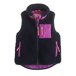 Girls' cozy fleece vest