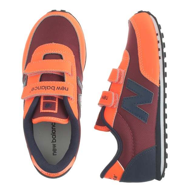 Kids' New Balance® for crewcuts KE410 Velcro® sneakers in neon orange