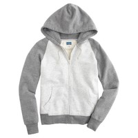 Bicolor full-zip hoodie