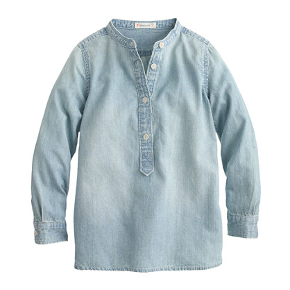 Girls' chambray tunic