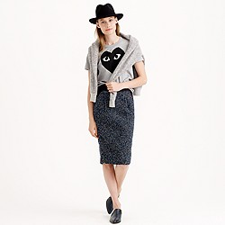 Petite midnight tweed pencil skirt