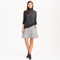 Plaza skirt in glen plaid