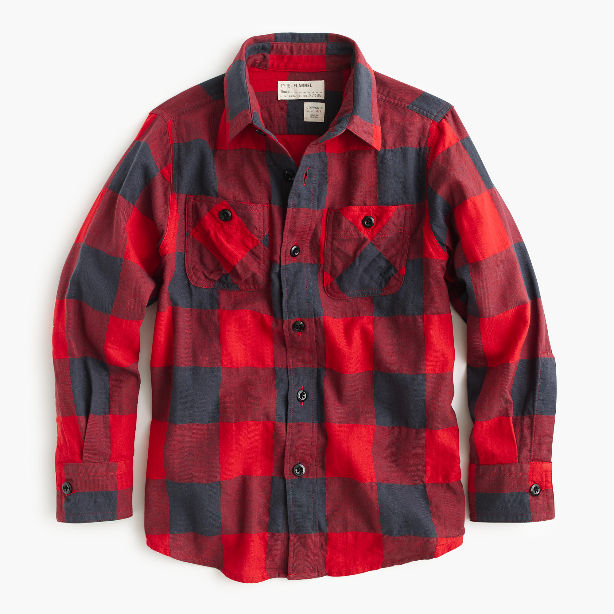 Boys 39 flannel shirt in buffalo check j crew for Buffalo check flannel shirt