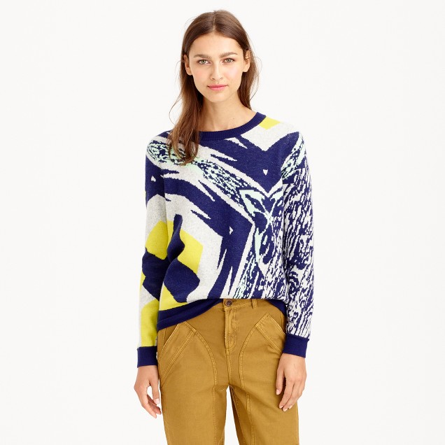 Double-knit abstract sweater