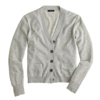 Merino wool V-neck cardigan sweater