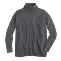 Featherweight merino wool boyfriend turtleneck sweater