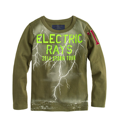 Boys' glow-in-the-dark electric rays T-shirt