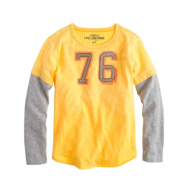Boys' #76 football T-shirt