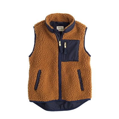 Boys' grizzly fleece vest