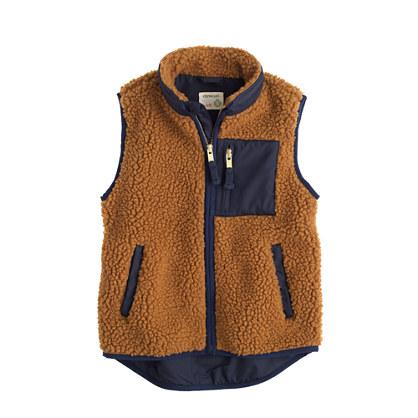 Boys' grizzly fleece vest