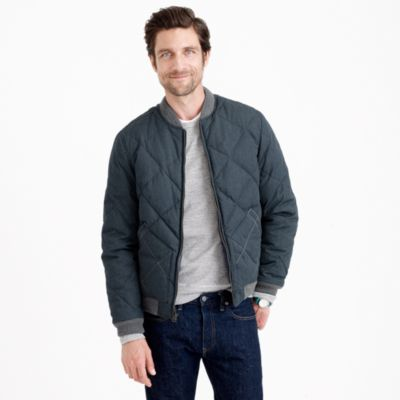 Wallace & Barnes down bomber jacket : | J.Crew