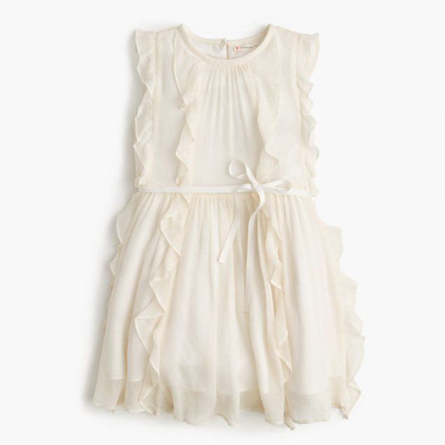 Girls' Belinda dress in crinkle chiffon