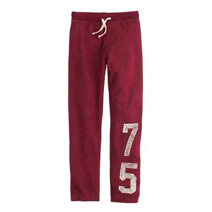 Boys' classic sweatpant in #75 racer