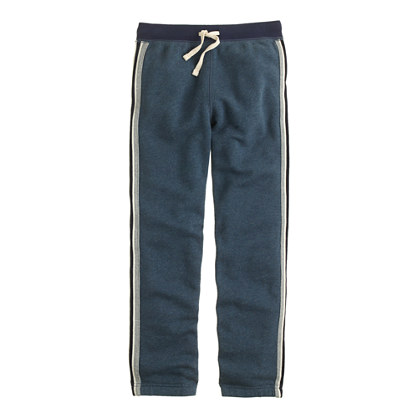 Boys' classic sweatpant in tux stripe