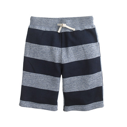 Boys' Cooper sweatshort in stripe