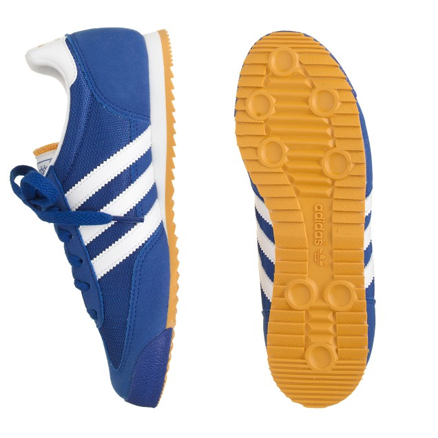 Kids' Adidas® Dragon sneakers in royal blue in larger sizes