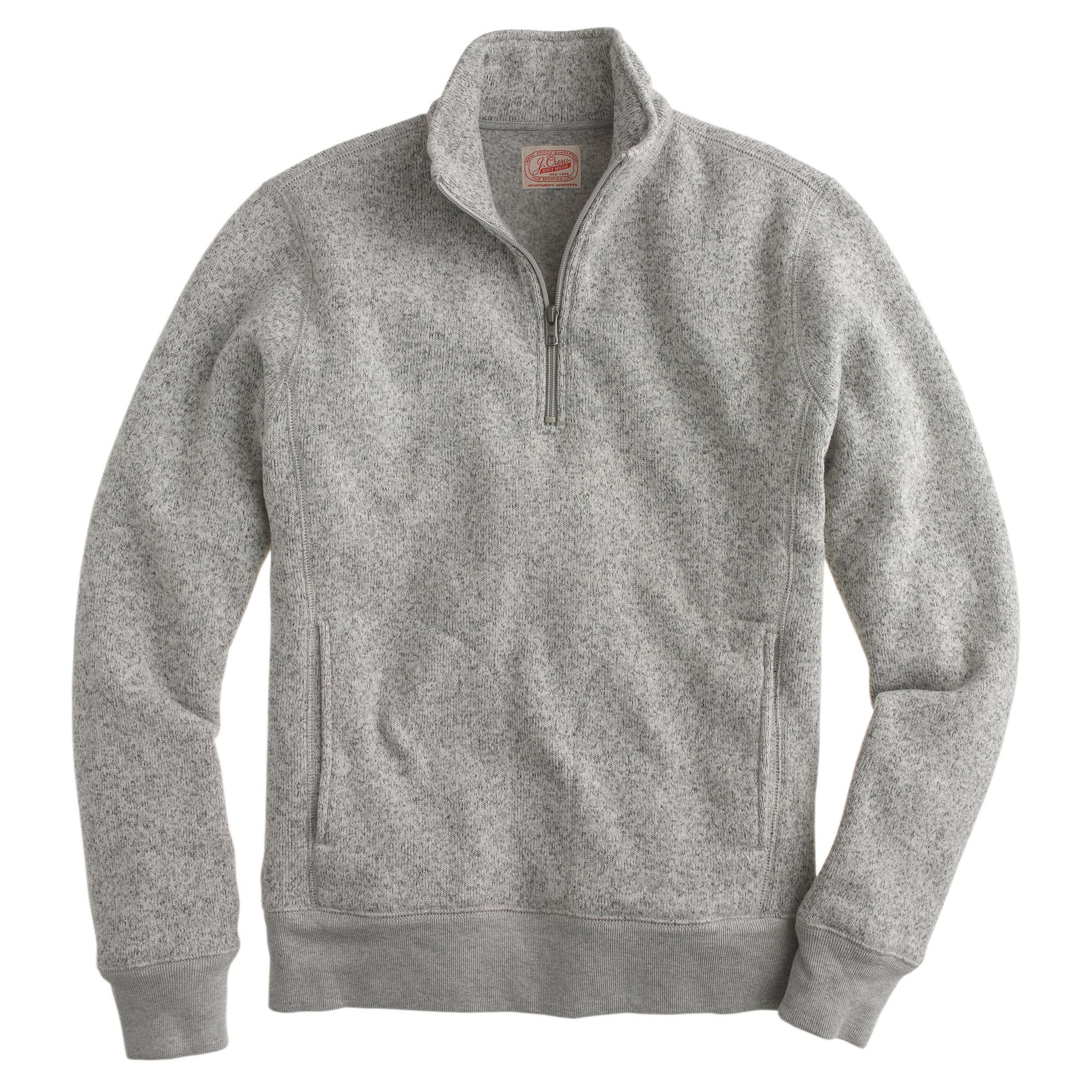 tall summit fleece half zip pullover jacket j crew. Black Bedroom Furniture Sets. Home Design Ideas