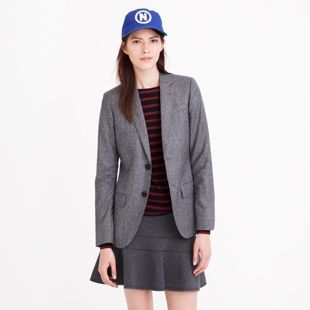 Collection women's Ludlow blazer in mini-houndstooth