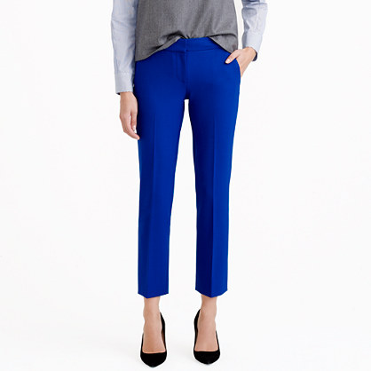 Campbell capri pant in bi-stretch wool