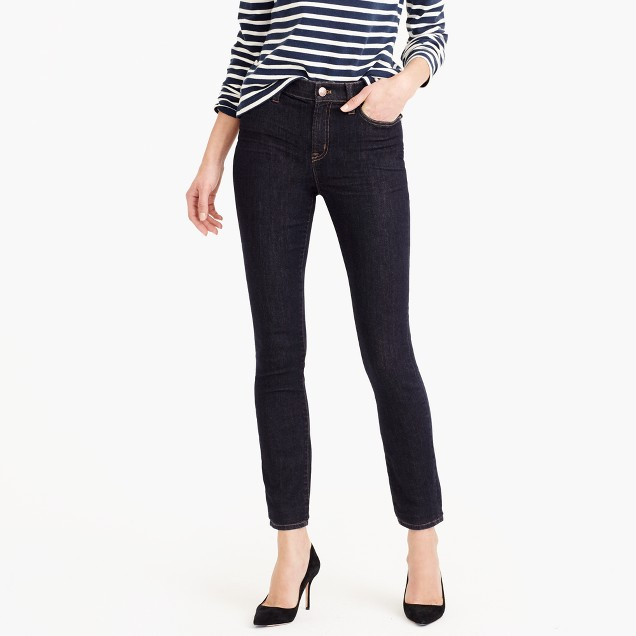 "Petite 9"" high-rise toothpick jean in Resin wash"