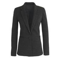 Single-button jacket in twill