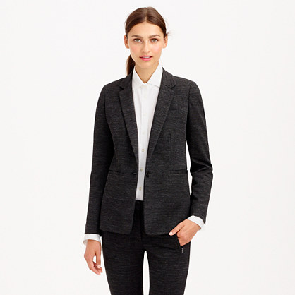 Single-button jacket in twill