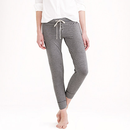 Whisper jersey leggings in stripe