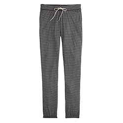 Whisper jersey drapey sweatpant in stripe