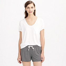 Whisper jersey short in stripe