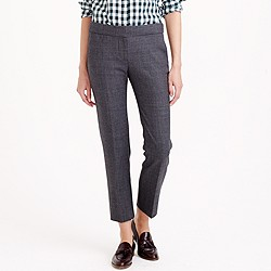 Campbell capri pant in plaid bi-stretch wool