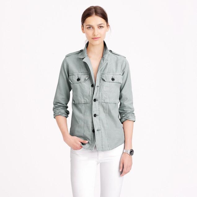 Faded shirt-jacket