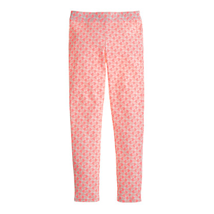 Girls' everyday leggings in small heart