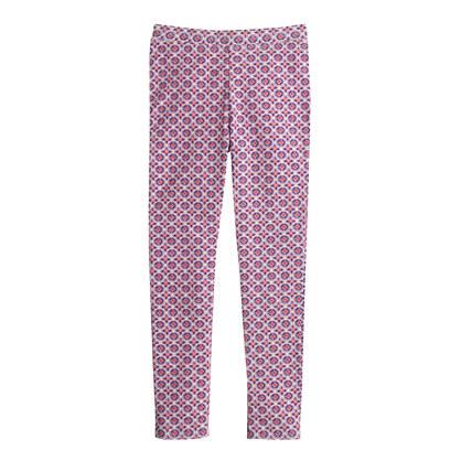 Girls' everyday leggings in plum foulard