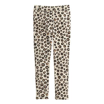 Girls' everyday leggings in meow print